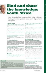 Patent Knowledge Share South Africa